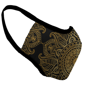 Mandala Bling Premium Fitted Face Cover