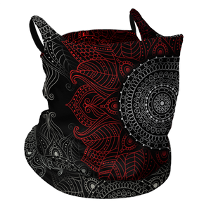 Mandala Kisses Premium Fitted Neck Gaiter with Ear Support