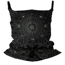 Load image into Gallery viewer, Mandala Kisses Premium Fitted Neck Gaiter with Ear Support