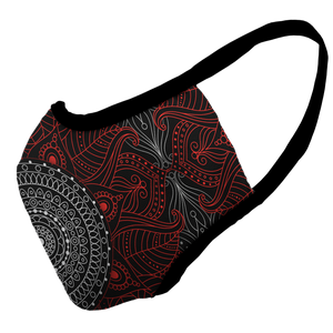 Mandala Kisses Premium Fitted Face Cover