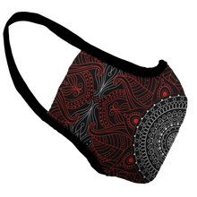 Load image into Gallery viewer, Mandala Kisses Premium Fitted Face Cover