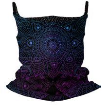 Load image into Gallery viewer, Mandala Madness Premium Fitted Neck Gaiter with Ear Support