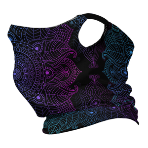 Mandala Madness Premium Fitted Neck Gaiter with Ear Support