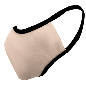 Solid Nude Fitted Face Cover with Black Trim