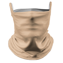Load image into Gallery viewer, Solid Nude Premium Fitted Neck Gaiter with Ear Support with White Trim
