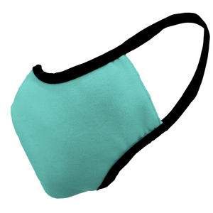 Solid Ocean Fitted Face Cover with Black Trim