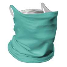 Load image into Gallery viewer, Solid Ocean Premium Fitted Neck Gaiter with Ear Support with White Trim