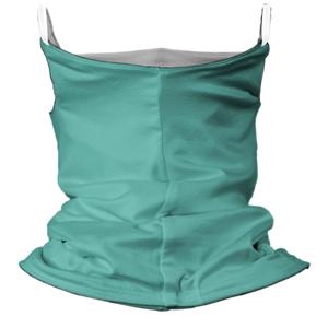 Solid Ocean Premium Fitted Neck Gaiter with Ear Support with White Trim