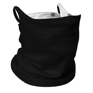 Ohio Real Title Black Premium Fitted Neck Gaiter with Ear Support