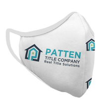 Load image into Gallery viewer, Copy of Patten Title Company Premium Fitted Face Cover (white)