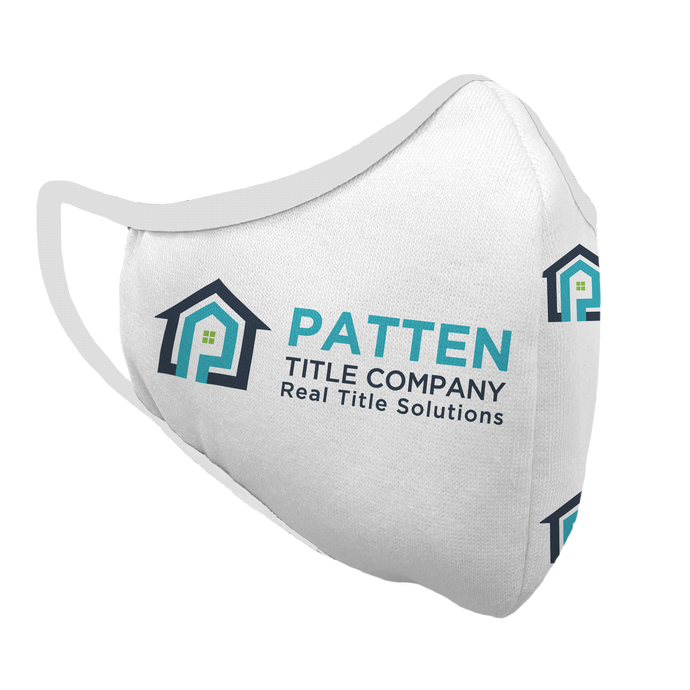 Copy of Patten Title Company Premium Fitted Face Cover (white)