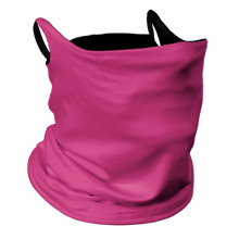 Load image into Gallery viewer, Solid Pink Premium Fitted Neck Gaiter with Ear Support with Black Trim