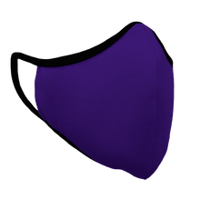 Load image into Gallery viewer, Solid Purple Premium Fitted Face Cover with Black Trim