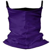 Load image into Gallery viewer, Solid Purple Premium Fitted Neck Gaiter with Ear Support with Black Trim