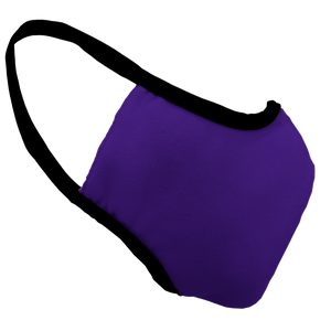 Solid Purple Premium Fitted Face Cover with Black Trim