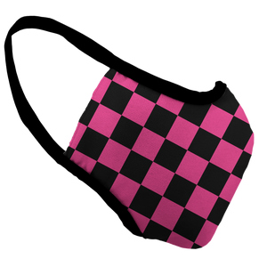 Queen Checker Premium Fitted Face Cover