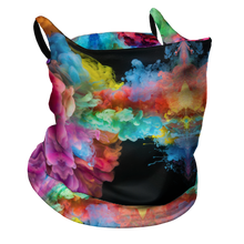 Load image into Gallery viewer, Rainbow Smoke Premium Fitted Neck Gaiter with Ear Support