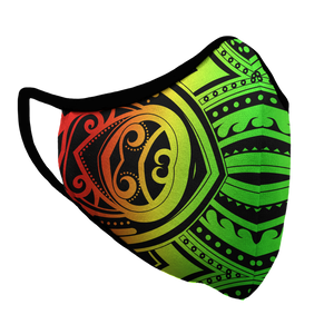 Rasta Tribal Survival Premium Fitted Face Cover