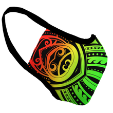 Load image into Gallery viewer, Rasta Tribal Survival Premium Fitted Face Cover