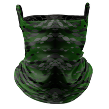 Load image into Gallery viewer, Reptilian Premium Fitted Neck Gaiter with Ear Support