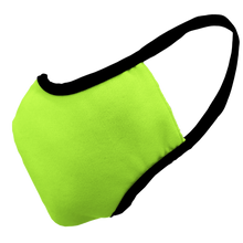 Load image into Gallery viewer, Solid Bright Green Premium Fitted Face Cover with Black Trim