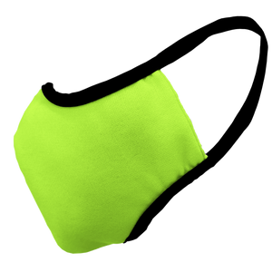 Solid Bright Green Premium Fitted Face Cover with Black Trim