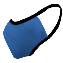 Load image into Gallery viewer, Solid Royal Blue Premium Fitted Face Cover with Black Trim