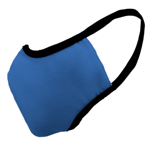 Solid Royal Blue Premium Fitted Face Cover with Black Trim