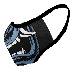 Samurai Blues Premium Fitted Face Cover