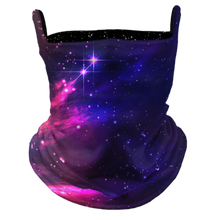 Load image into Gallery viewer, Space Dreams Premium Fitted Neck Gaiter with Ear Support