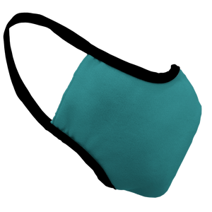 Solid Teal Premium Fitted Face Cover with Black Trim