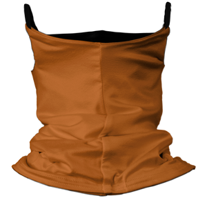 Solid Texas Orange Premium Fitted Neck Gaiter with Ear Support with Black Trim