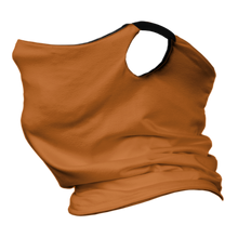 Load image into Gallery viewer, Solid Texas Orange Premium Fitted Neck Gaiter with Ear Support with Black Trim