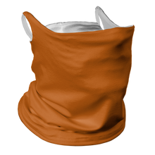 Load image into Gallery viewer, Solid Texas Orange Premium Fitted Neck Gaiter with Ear Support with White Trim