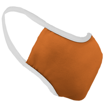 Load image into Gallery viewer, Solid Texas Orange Premium Fitted Face Cover with White Trim