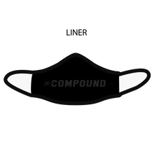 Load image into Gallery viewer, The Compound Premium Fitted Face Cover
