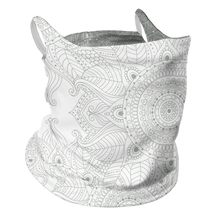 Load image into Gallery viewer, Touch of Mandala Premium Fitted Neck Gaiter with Ear Support