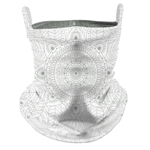 Touch of Mandala Premium Fitted Neck Gaiter with Ear Support