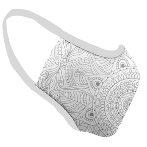Touch of Mandala Premium Fitted Face Cover