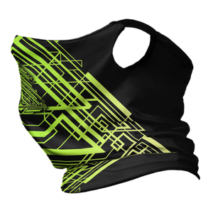 Tron Trees Premium Fitted Neck Gaiter with Ear Support