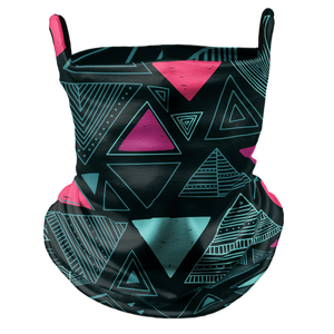 Triangle Tribe Premium Fitted Neck Gaiter with Ear Support