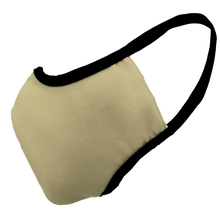 Load image into Gallery viewer, Solid Vegas Gold Premium Fitted Face Cover with Black Trim