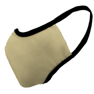 Solid Vegas Gold Premium Fitted Face Cover with Black Trim