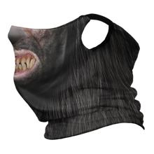 Load image into Gallery viewer, Wolf Man Premium Fitted Neck Gaiter with Ear Support