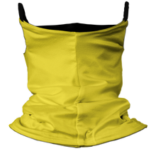 Load image into Gallery viewer, Solid Yellow Premium Fitted Neck Gaiter with Ear Support with Black Trim