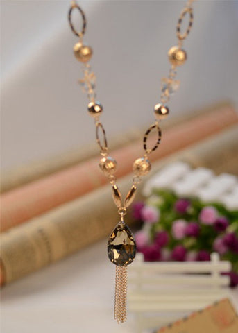 star pendant wholesale necklace tassel silver item long girls chain large gold style metal women crystal big