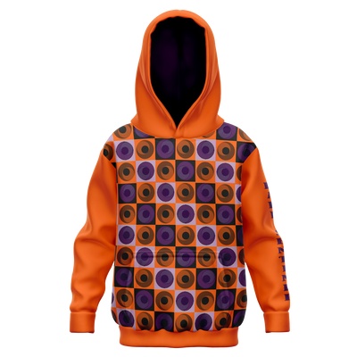 Orange and Purple Geo Hoodie - Dark Sentinel