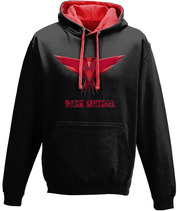 Black and Red Earphone-ready Hoodie - Dark Sentinel