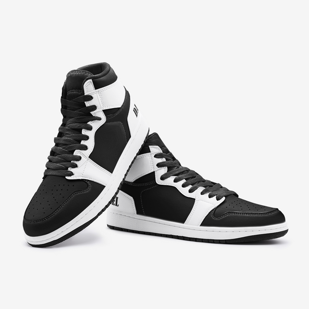 LE Black and White Hi-Tops