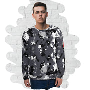 Black and white Camo Sweatshirt - Dark Sentinel